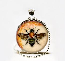 Wholesale Bee Slides - Wholesale Vintage Bee pendant Vintage Bee necklace Vintage Bee jewelry nature necklace