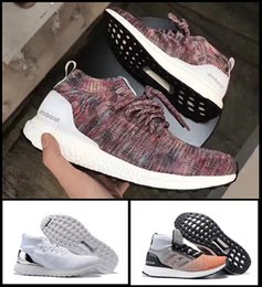 Wholesale Nipple Toe - Hot Sale Top quality popular women & men Kith Ultra Boost Mid 1 Multicolor shoes with nipple top quality 2017 sneaker size 36-44