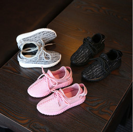 Wholesale Boys Shoes Size 12 New - 2017 new flying children children movement coconut shoes mesh face boys and girls breathable baby running children's shoes students