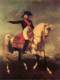 Wholesale High Quality Horse Oil Painting - Framed,NAPOLEON BONAPARTE RIDE HORSE,Pure Handpainted Portrait Art Oil Painting On High Quality Canvas Multi Sizes Free Shipping tn 012