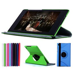 """Wholesale Tablet Pc Cover Asus - Wholesale- 360 Rotating Folio Stand Leather Case Skin Shell Cover For ASUS MeMO Pad 7 ME572C ME572CL ME7250CL K007 K00R 7"""" inch Tablet PC"""