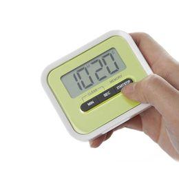 Temporizadores de cuenta regresiva de deportes online-Temporizador Cocina Cocinar 99 Minutos LCD Digital Reloj despertador Medicación Deporte Cuenta atrás Calculadores Temporizadores con Clip Pad ZA3278