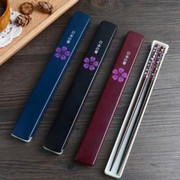 scatola di legno del bacchette Sconti Le bacchette di legno naturali giapponesi hanno fatto a mano il partner di Bento con il regalo di compleanno di favore della scatola del regalo che spedice liberamente ZA4071