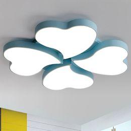 Wholesale Heart Ceiling Light - New design led ceiling lights modern clover heart shape nordic elegant creative ceiling lightings children bedroom living room study room