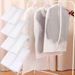 Wholesale Folding Travel Coat Hangers - Wholesale- 2015 Modern S M L XL Garment Suit Dress Clothes Coat Hanger Cover Dustproof Travel Protector