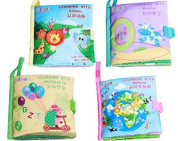 Wholesale Soft Alphabet - 2017 New Baby Learning Education Toys Soft Cloth Book Development Tools Animal Tails Cognitive Ability Training