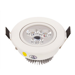 Wholesale 3w Power Led Driver - 2017 New Arrival 3W 4W 5W High Power led Recessed downlight AC85-265V Spot light ceiling lamp + led driver free shipping