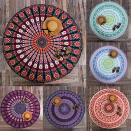 Wholesale Indian Style Decor - Wholesale- Hot!! 5 Style Indian Round Mandala Tapestry Wall Hanging Throw Towel Yoga Mat Blanket Sun Bath Shawl Outdoor Picnic Decor