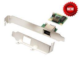 Wholesale mini itx desktop - Wholesale- mini PCIe Gigabit Ethernet Network Card For Mini ITX mini PCI-e to RJ45 Port adapter 10 100 1000 Base-T Network LAN Controller
