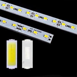 Wholesale Light Strip Cover - DHL Fedex 50m lot led rigid strip light led bar light SMD5630 DC12V 1m 72leds + U Channel aluminum slot without cover showcase light