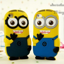 Wholesale Despicable Silicon Iphone - Wholesale Plastic Phone Case cute Cartoon Despicable Me Minion Silicon Soft Phone Cases Cover Case For Iphone7 7 Plus 6 6S 5 5S