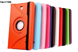 Wholesale Galaxy Note S2 Cases - 100 PCS 360 Rotating PU Leather Case Smart Cover for Samsung Galaxy Tab 3 4 S S2 A E 8.4 T330 T230 P3200 T377