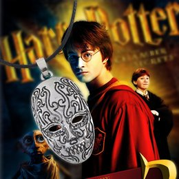 Wholesale Toy Tops For Sale - Hot Sale Top Grade Movie Potter Death Eater Mask Pendant Necklace Gift for kids Men Women Cosplay Mask Harry Necklace Toy