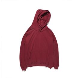 eb4fb184f45 Solid Color Plain Hoodies Men 2017 Autumn Streetwear Men s Hoodie Mens  Sweatshirts Red Khaki Blacks L001BI