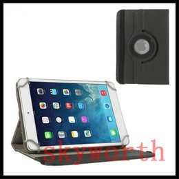 Wholesale Ipad Fabric Cases - Universal Jean 360 rotating leather case for 7 8 9 10 inch tablet cover MID ipad Samsujng Galaxy tab A E S2 lenovo