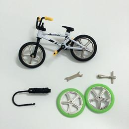 Wholesale Mini Bike Bmx Wholesale - Wholesale-2015 Excellent Quality bmx toys alloy Finger BMX Functional kids Bicycle Finger Bike mini-finger-bmx Set Bike Fans Toy Gift