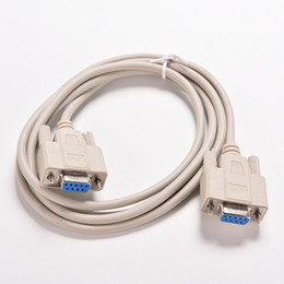 Wholesale Rs232 Com - Wholesale- 1PC 5ft F F Serial RS232 Null Modem Cable Female to Female DB9 FTA Cross Connection 9 Pin COM Data Cable Converter PC Accessory