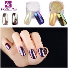 Wholesale Shine Pigment - Wholesale-KADS 1g pot Mirror Glitter Nail Art Powder Nail Tips Beauty Nail Powder DIY Chrome Pigment Glitters For Nail Glitter Shining