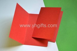 Wholesale Wholesale Green Greeting Cards - Wholesale- 100PCS LOT.Light yellow Red Blue Green folded blank cards,Handmade greeting cards.DIY scrapbooking kit.4 color choice.X'mas card