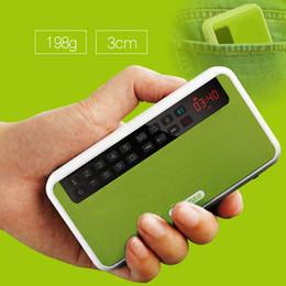 Wholesale Record Audio Card - newest Wholesale-Rolton E500 mini bluetooth speaker box, support bluetooth phone call TF card MP3 FM radio earphones LED light record sounds