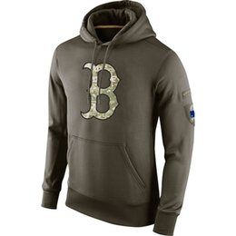 Wholesale Red Sox Pullover - new styles of Men's Boston Red Sox olive salute to service ko performance Hoodie,free shipping,all teams and accept any size to make