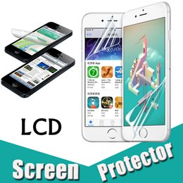 Wholesale Iphone Lcd Screen Protectors - Transparent Clear Front LCD Screen Protector Guard Film With Cloth For iPhone X 8 7 Plus Samsung Note 8 5 S7 Edge Huawei P10 Xiaomi 6 LG G6