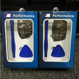 Wholesale Bmw X6 Carbon Fiber - Styling M Performance Shift Knob Panel Sticker Carbon Fiber Universal For BMW X3 X5 X6 M3 M5 F10 F30 F35 F18 320 520