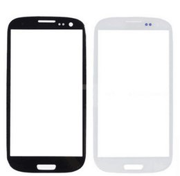 Wholesale Galaxy S3 Glass Replacement Blue - Black White Blue S3 Touch Screen Lens Glass Replacement Front Out Glass Samsung Galaxy S3 I9300 Touch
