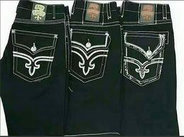 Wholesale Rock Revival Short - New Hip Hop Fashion Mens Rock Revival Jeans shorts Classic Denim Pants Designer Casual Trousers Straight Jean Mens Robin Biker Jeans shorts