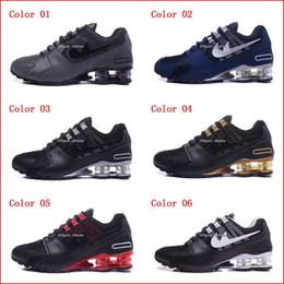 Wholesale Low Boots For Men - Running Shoes For Men Shox NZ Ultra Sneakers Boots Authentic 2017 New Mens Black Red White Walking Discount Sports Casual Shoes