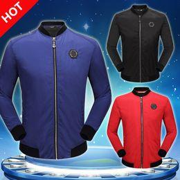 Wholesale Mens Coats Collars - New Mens coat Fashion Skull Horse Printed Fitness Men jacket Camisetas Swag Medusa Casual Coat PP jacket M-3XL