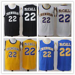 Wholesale Uniform High School - Fashion 22 Quincy McCall Jersey Basketball Crenshaw Men High School Black Yellow Blue White Movie Shirt Uniforms Throwback