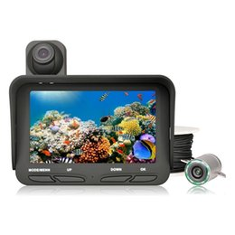 Wholesale Mega Pixel Dvr - 720P LCD Display 20m Cable Fish Finder DVR Dual Lens 2.0 Mega Pixels Night View for Underwater Fishing Camera Recorder