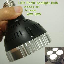 Luz de pista comercial led on-line-Bulbo do projector do diodo emissor de luz do poder superior E27 24 graus 20W 30W para o dispositivo elétrico claro da trilha, iluminação do acento, iluminação comercial