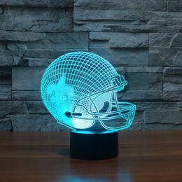 2019 base all'ingrosso di cristallo chiara Il modello di stile americano del casco di football americano di effetto di trasporto libero ha condotto la luce