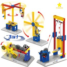Wholesale Abs Building Materials - 2017 Hot New Mechanical Engineering Building Blocks 4 Types Building Blocks Toys for Girls Boys Good Quality ABS Material Blocks