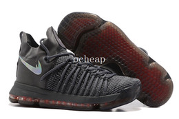 Wholesale Kd Sneakers Kids - Free shipping KD 9 Elite Time to Shine Basketball Shoes mens kids KD 9 Elite Time Gray Sneakers Size us 7-12