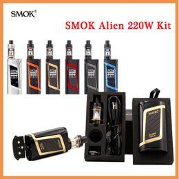 Wholesale Baby Kit S - SM-OK Alien Starter Kit with Alien 220W Box MOD & 3ml TFV8 Baby Tank with 0.4ohm 0.15ohm Core S-mok Alien 220w Kit