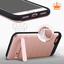 Wholesale Iphone Golden Cover - 2017 TPU+PC Luxury Dual Layer Golden Armor Case For iphone series 2 in 1 Silicone PC Hybrid Shockproof Case Cover For iPhone7