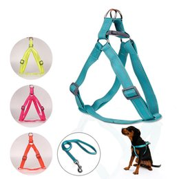 Wholesale Harness Pull - Strong Nylon Front Leading No Pull No Choke Training Dog Harness Walking Collar & Lead Leash Free shipping WA0582