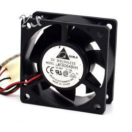fan dc48v Rebajas Original AFB0648HH DC48V 0.10A 60 * 60 * 25 MM de tres líneas ventilador axial para delfa