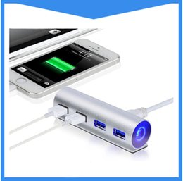 Wholesale External Air - USB 3.0 Hub Super Speed 4 Ports external Usb Hub Splitter Portable for Apple Macbook Air Laptop PC Tablet