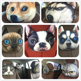 Wholesale Soft Car Neck Cushion - Fashion Cute Animal series Neck pillow Car decoration Seat pillow Soft Animal expression back cushion IA817