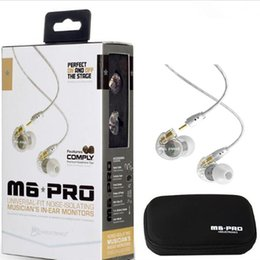 Wholesale Pro Audio Wire - Hotest MEE audio M6 PRO Universal-Fit Noise-Isolating Cancelling Musician's In-Ear Monitors with Detachable Cables newest SoLo 3 in stocks.