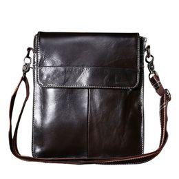 Wholesale Notebook Body - Wholesale- Men's Patchwork Unique Buckle Design Crossbody Bags 2016 Fashion Business Messenger Bag Notebook Handbag Man Shoulder Bag CH017
