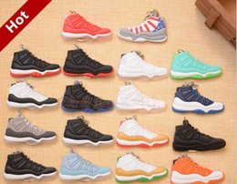 Wholesale Browning Car - Mixed Colors Soft PVC Basketball Shoes Keychains Sports Sneaker Key Pendant Car Key Chain Keyrings Accessories Christmas Gifts