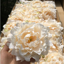 Wholesale Head Party Supply - Artificial Flowers Silk Peony Flower Heads Wedding Party Decoration Supplies Simulation Fake Flower Head Home Decorations wholesale 15cm