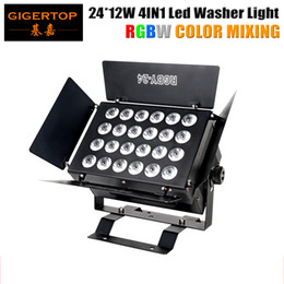 Wholesale Led Lights Panel Video - TIPTOP TP-W2412 24x12W RGBW Led Wall Washer Light Photo Studio Barndoor Light Dimmable LED Video Light Panel Barndoor V-Mount Compacted Size
