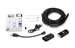 usb endoscope hd Rebajas 8mm 8LED Wifi Endoscopio Inalámbrico HD 720P IP P2P Cámara 1/3 / 5/7 / 10m Cable Boroscopio Cámara de Inspección Impermeable