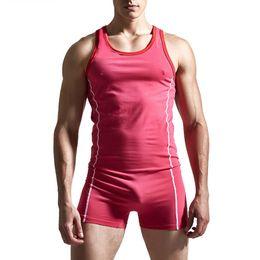 Wholesale Teddy Lingerie Wear - Wholesale- Cotton New Men Sexy Teddies Bodysuits Lingerie Jumpsuit Singlet Underwear 2017 Hot Club Wear Homewear Gay Superbody Jockstrap